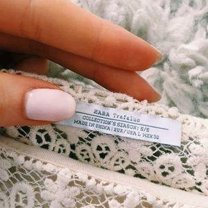 Zara Tops - NWOT Zara White Crochet Crop Top
